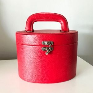 Red Top Handle Purse